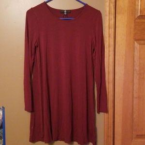 Maroon Missguided Dress